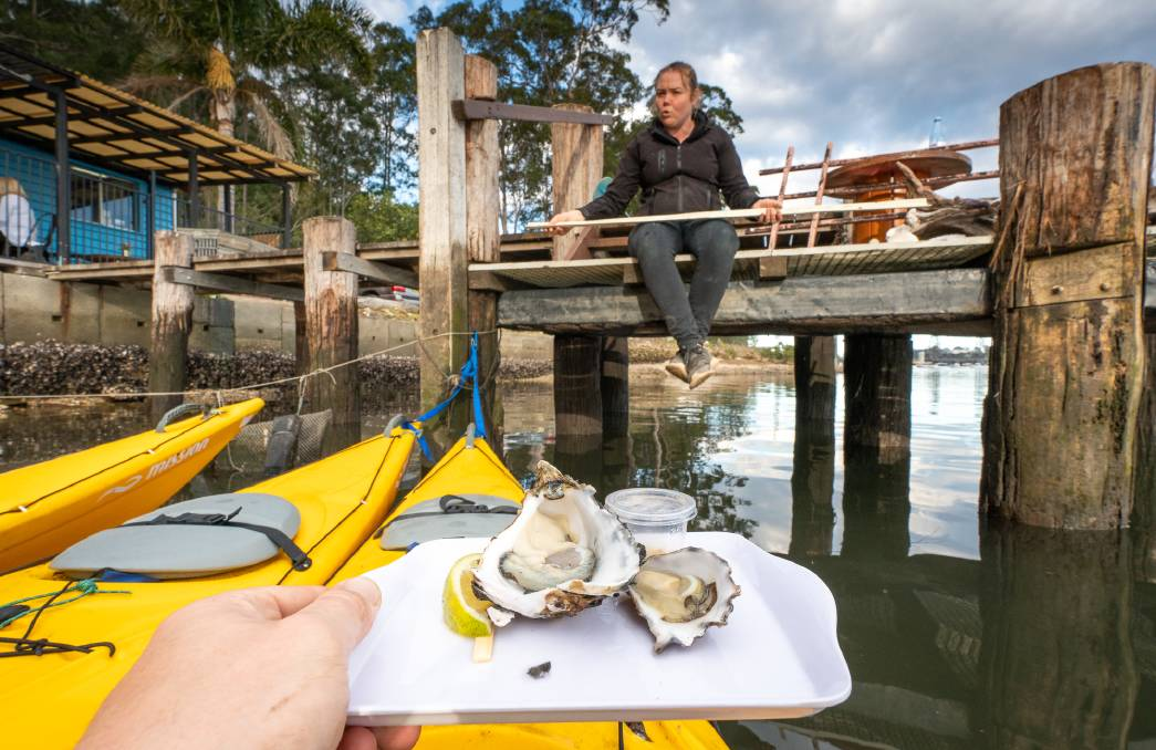 You can take a tour in Batemans Bay to taste fresh oysters from a kayak.