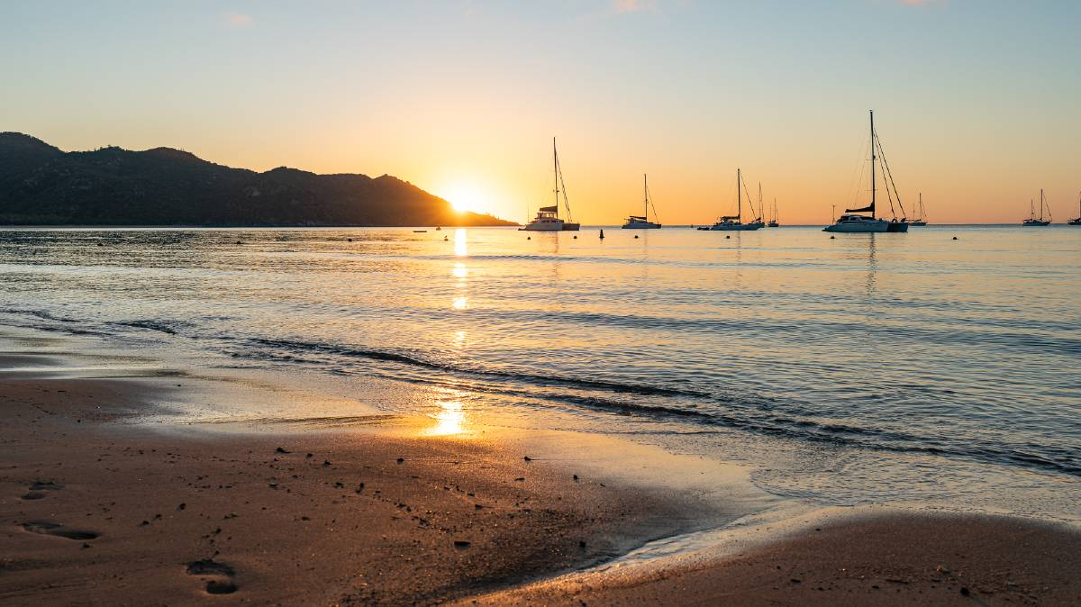 Sunset at Horseshoe Bay on the northern side of Magnetic Island. Pictures: Michael Turtle