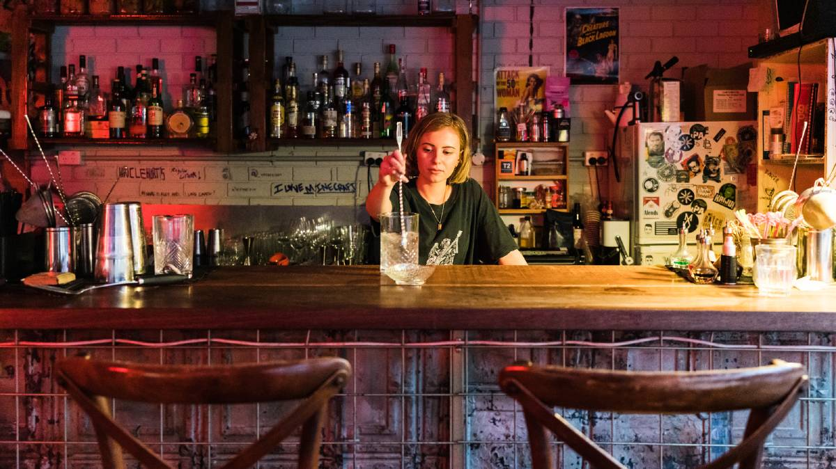 Uncle Kurt's, a Brooklyn-style bar on the ground floor of a parking garage, is part of a new vibe in Parramatta. Pictures: Michael Turtle