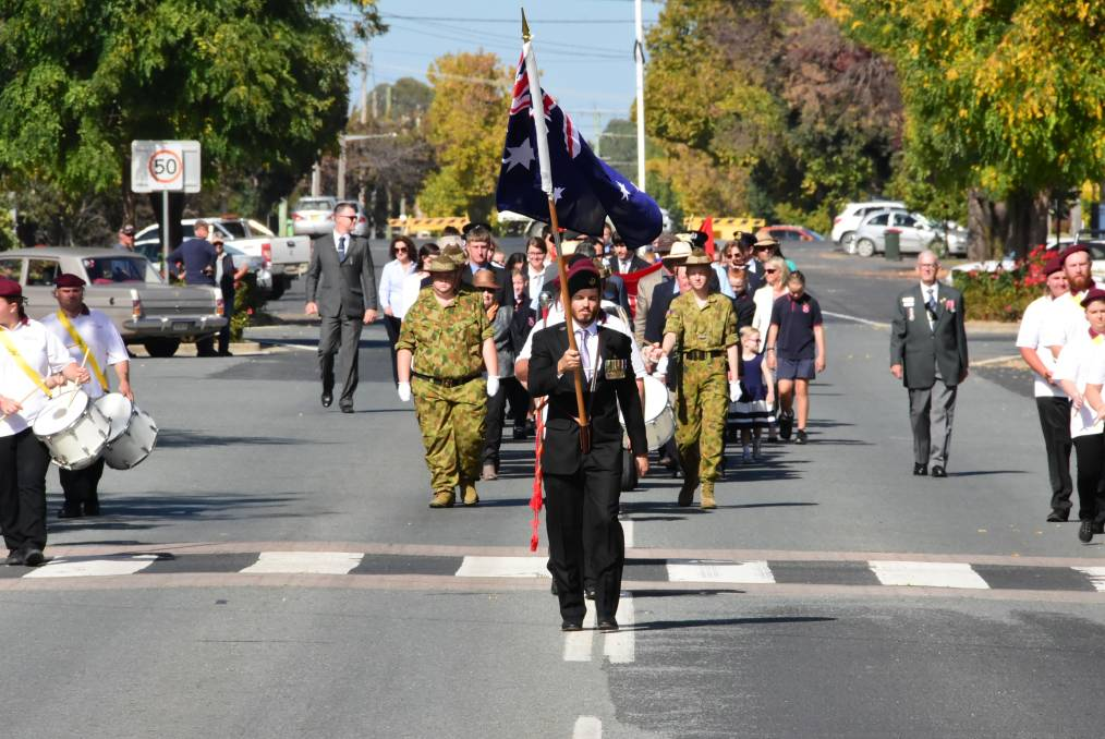 Boorowa's Anzac Day march will go ahead this year. Photo: Matthew Chown