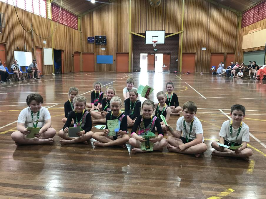 Fourteen gymnasts took part in the annual Recreational competition. Photo supplied.